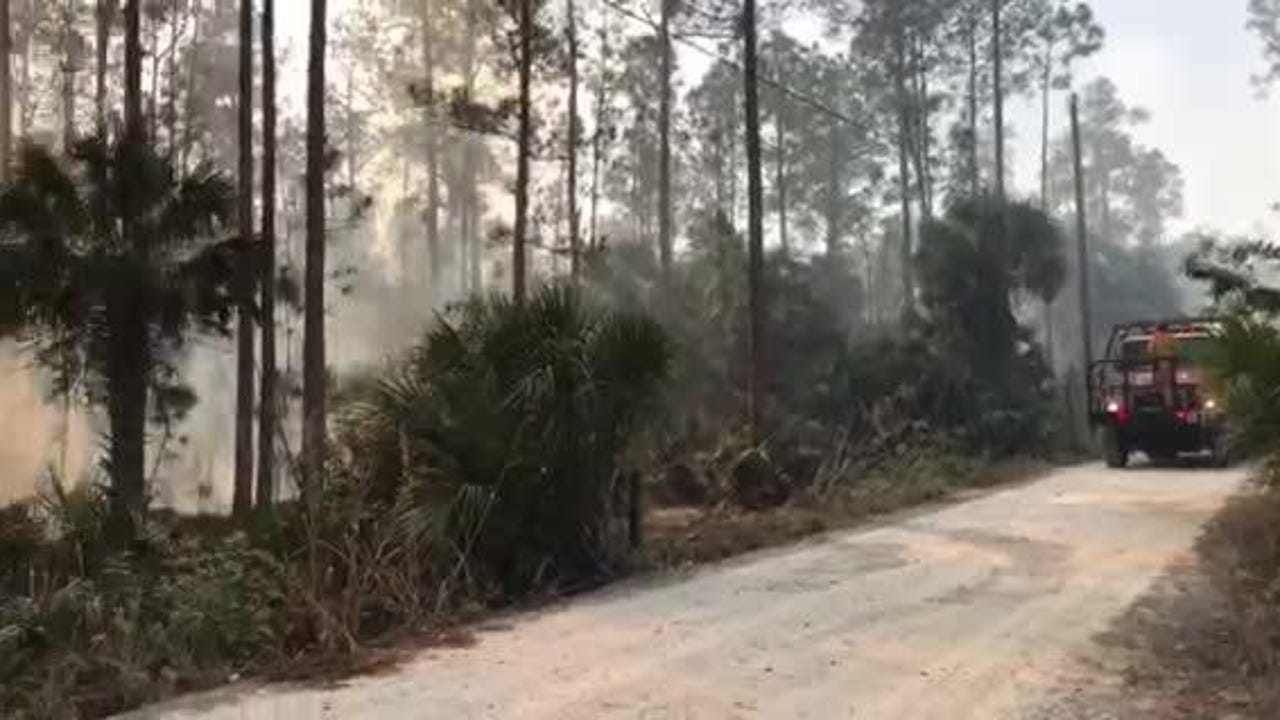 Video: Brush fire near Belle Meade Ranch