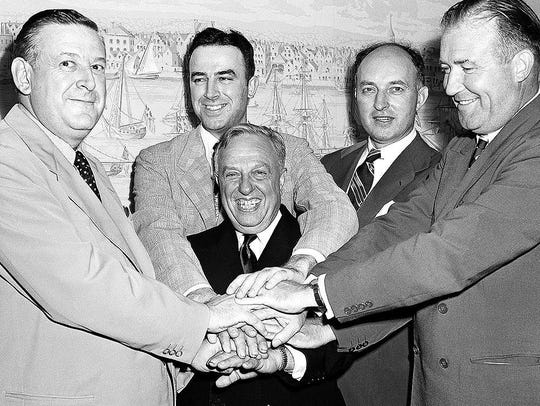 Leo Ferris, second from left in the back, appears in