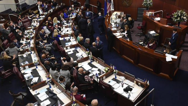 The 2017 session of the Nevada Legislature opened in February in Carson City.