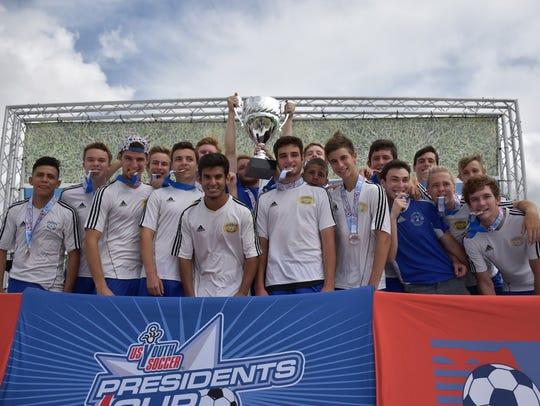 The Port St. John under-19 boys soccer team won the