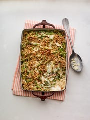 "Green bean casserole by Damaris Phillips, author of the cookbook ""Southern Girl Meets Vegetarian Boy."""
