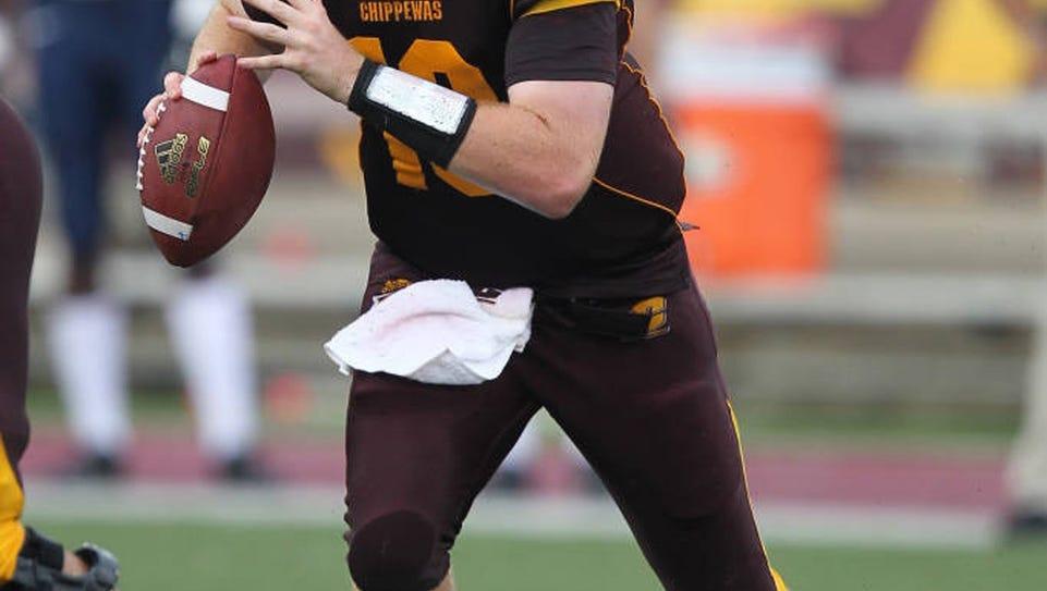 Lansing Catholic graduate and Central Michigan quarterback