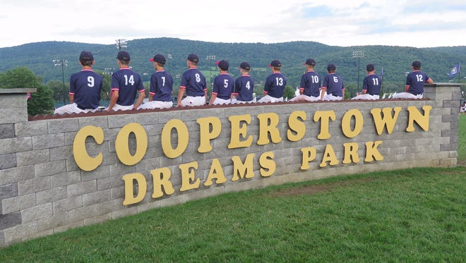 Players from the Webster Warthogs played at Cooperstown Dreams Park, the 20-year-old, 22-field youth baseball complex, July 31 through Aug. 3.