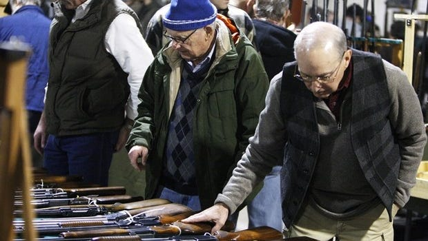 A 2013 gun show at the Delaware County Fairgrounds.