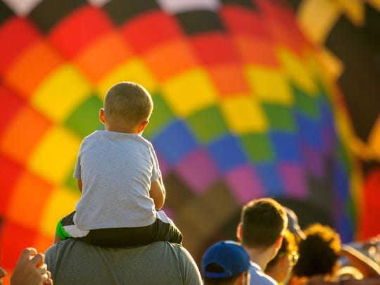 A near record crowd hot air balloon fans filled the
