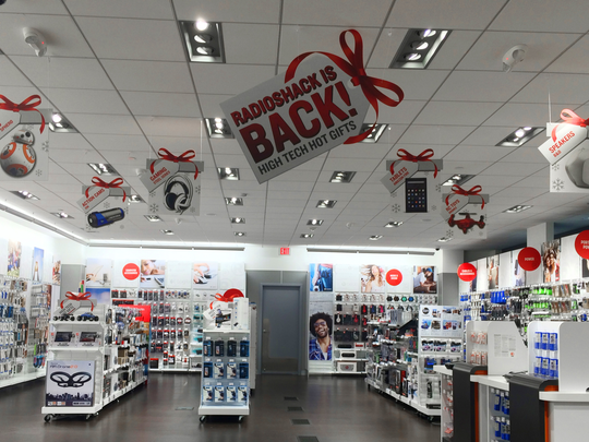 The inside of a new RadioShack store. The retailer