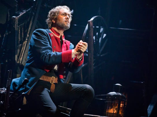 """Nick Cartell as """"Jean Valjean"""" in the new national"""