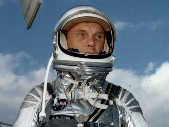 This file photo dated February 1962 shows US astronaut