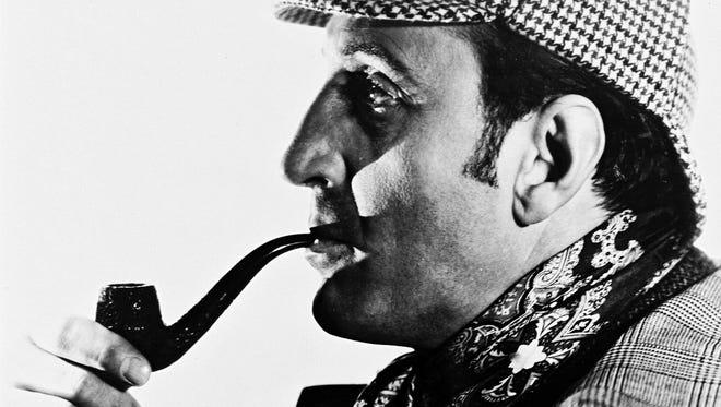 Actor Basil Rathbone as Sherlock Holmes,  the detective created by Sir Arthur Conan Doyle.