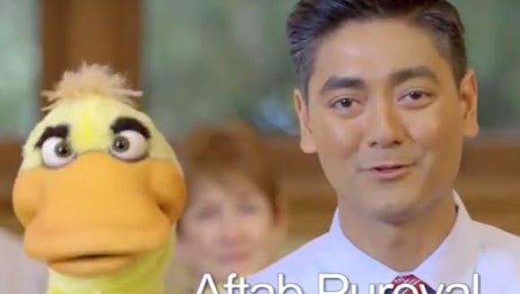 Aftab Pureval's political ad