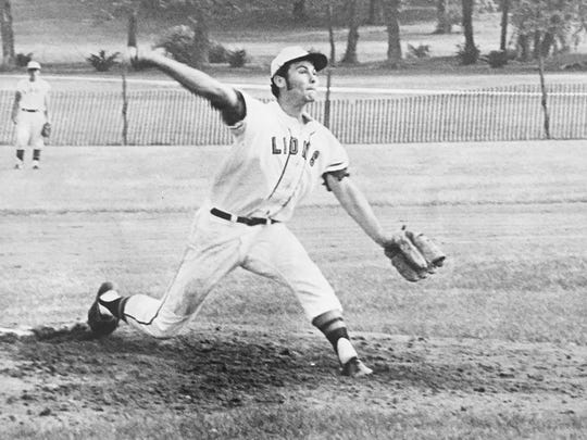 Middletown's Jim Vosk delivers a pitch against Raritan in 1971, shortly before being drafted by the Boston Red Sox in the third round.