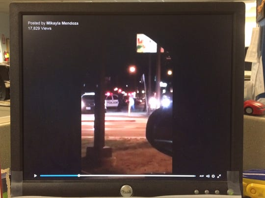 Bystander footage, posted on Facebook, shows the fatal