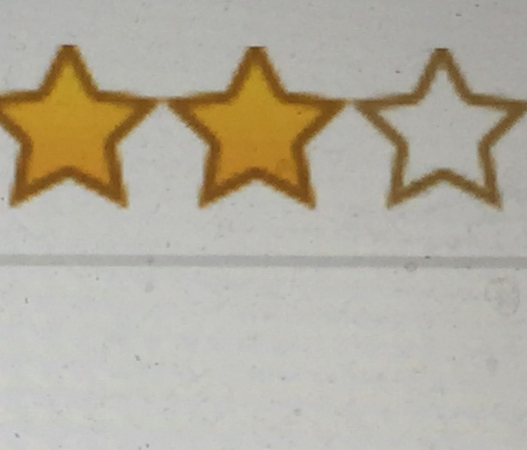 Rating stars for a product on Amazon. Research shows that a 5-star rating isn't actually the best, as if customers don't see at least a few negative reviews they think the system's been gamed.