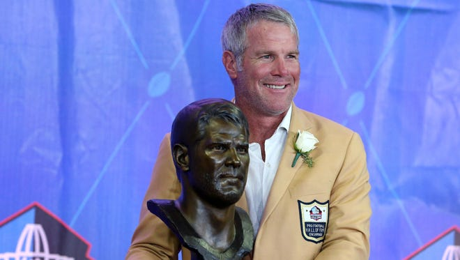 Brett Favre was enshrined into the Pro Football Hall of Fame in 2016.