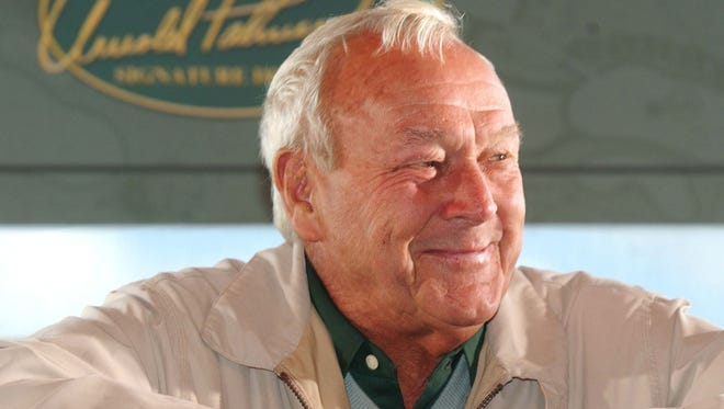 Golf legend Arnold Palmer during a 2003 visit to Top of the Rock.