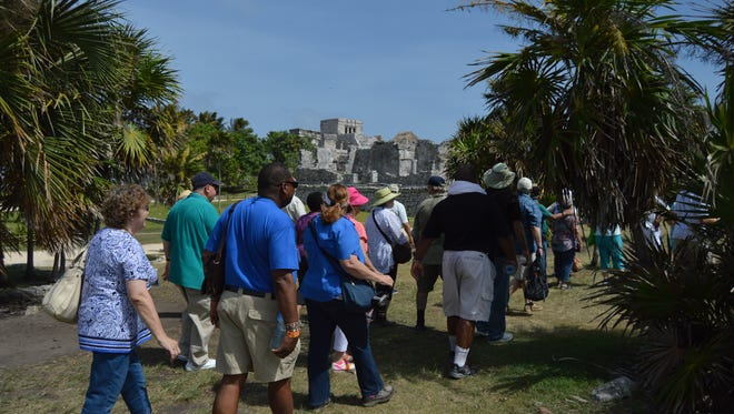 The Florida Historical Society hosted a tour to the ancient Mayan city of Tulum last month. It's possible that the Maya visited Florida as much as 12 centuries ago.