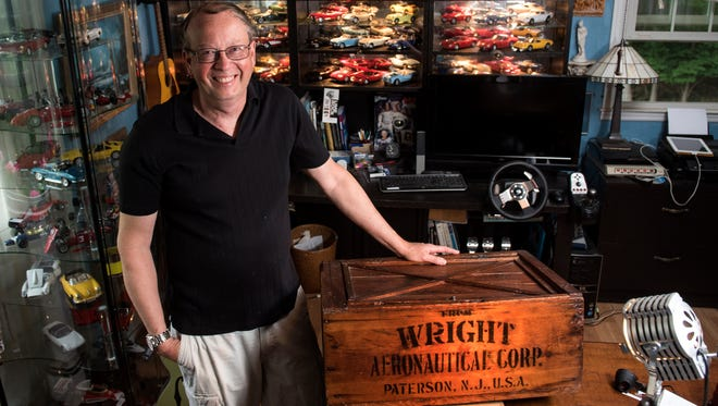 Oakland resident Joe Porus was surprised to learn that a box he bought 28 years ago for $5 is likely a rare tool part shipping container from the famed Wright Aeronautical Corp. in Paterson.
