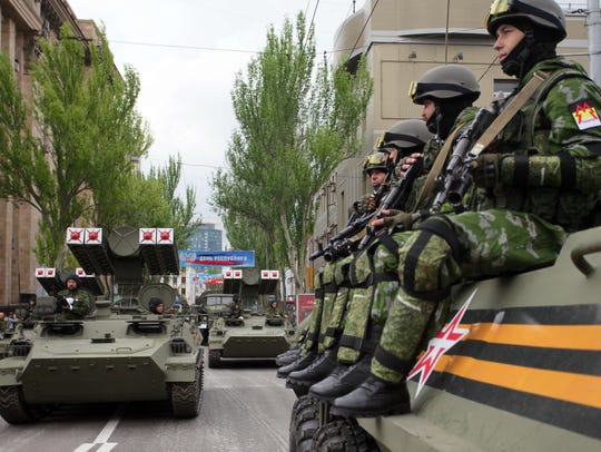 Pro-Russian separatists of the self-proclaimed Donetsk