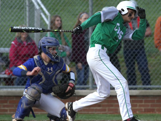 Clear Fork's Dylan Jewell swings at the ball while playing a home game against Ontario on Wednesday.