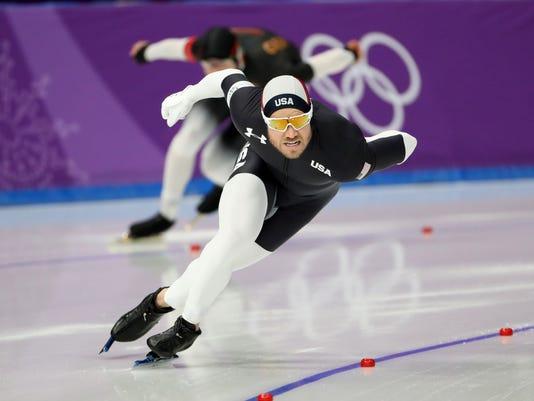 Olympics: Speed Skating-Mens 1000m