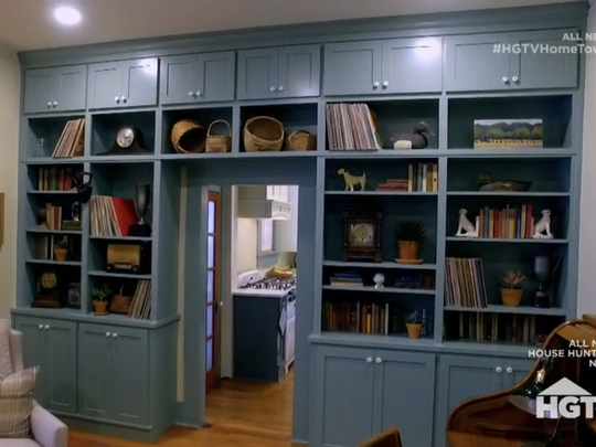 Ben Napier built cabinets into this former dining room