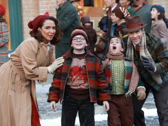 Maya Rudolph, Andy Walkin, Tyler Wladis and Chris Diamantopoulos in 'A Christmas Story Live.'
