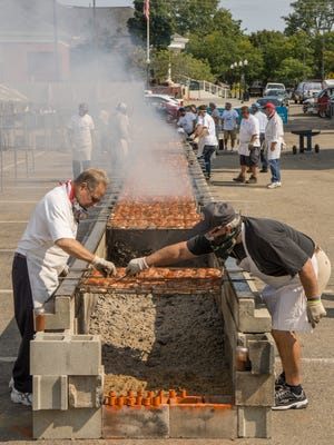 The Rotary Club's chicken barbecue is one of the highlights of the annual Fall Festival in Plymouth.