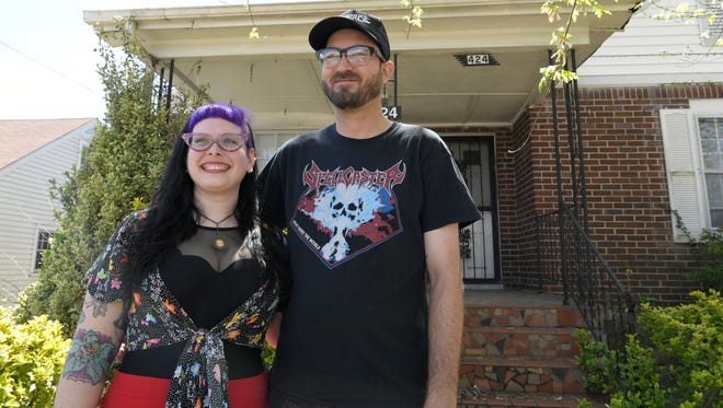 Leslie Rothenburg and Christopher Martin are renting this East Trinity Lane home as they prepare to move into their first home ever.