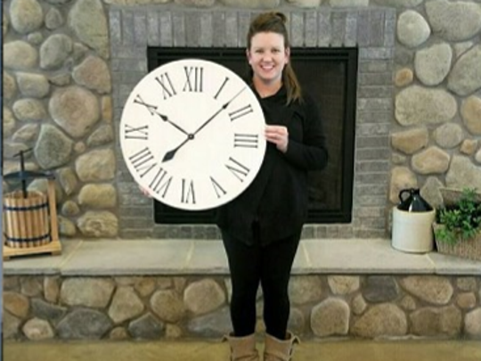 Farmhouse clocks will be the craft of the night on Tuesday at Chateau Tebeau Winery.