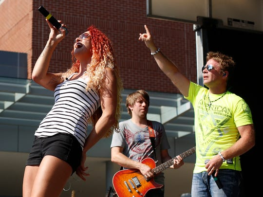 Boogie and the Yo-Yo'z performs during Octoberfest 2014 in downtown Appleton. The band will play at Gobblefest on Nov. 26.