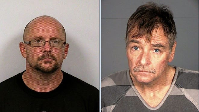 Tracey Lock, 40, left, and Drake Van Cleave, 50, were arrested in connection to the burglary rings in Carson City. Deputies are investigating 30 home burglaries in Carson City and Washoe and Douglas Counties.