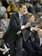 Northern Kentucky Norse head coach John Brannen shouts