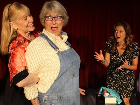 "Shirley LeMaster, Rebecca Hertsgaard and Lee Rice perform as a part of the cast of ""Steel Magnolias"" at the Arthur Newman Theatre in Palm Desert."