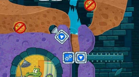 """In """"Where's My Water? 2,"""" the fun of the intriguing water-physics puzzles is drowned out by the relentless energy bar -- Disney's method of monetizing this app."""