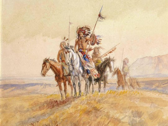 """""""An Indian War Party"""" (1902, watercolor) was purchased"""