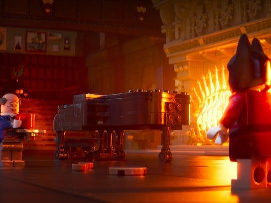 "Alfred (left) is loyal to Batman in ""The LEGO Batman"