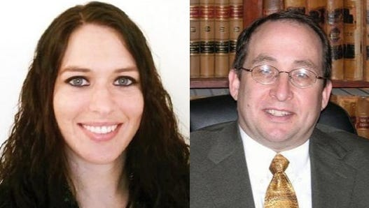 Kimberly A. Romach, left, and Terrence Brown-Steiner