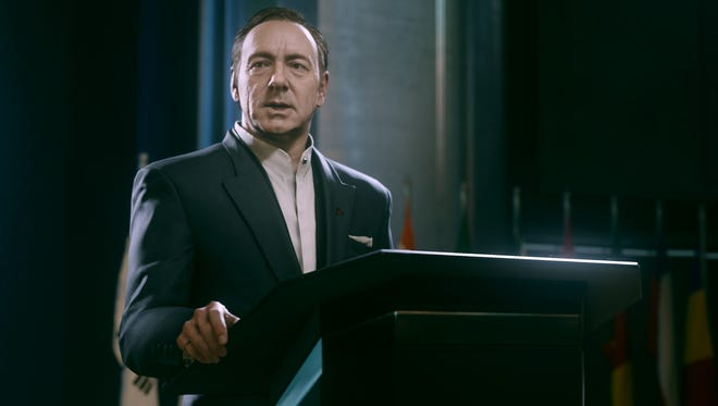 """Kevin Spacey provided his likeness, movements and voice for the character Jonathan Irons in the video game """"Call of Duty: Advanced Warfare."""""""