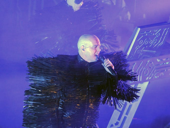 The Pet Shop Boys play during  Moogfest at Thomas Wolfe Auditorium Wednesday. Special to Citizen-Times. John Coutlakis/special 4-23-14