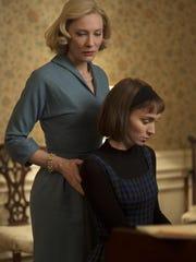 "Cate Blanchett, left, and Rooney Mara star in ""Carol."""