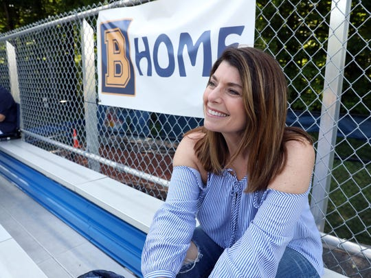 Maxine Juvelier, whose son plays baseball for Briarcliff, reacts to the banner that flew over Monday's game calling for the firing of the coaches, May 23, 2018 at the semifinal game against Putnam Valley. Juvelier was appalled by it and felt someone could have expressed themselves.
