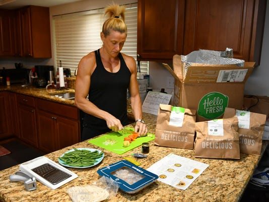 Gayle Kluesner at Hello Fresh food