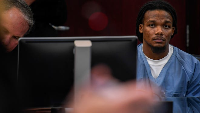 Brandon Banks appears in court to argue for a new trial in front of Judge Monte Watkins at the Justice A.A. Birch Building in Nashville, Tenn., Thursday, Feb. 1, 2018.