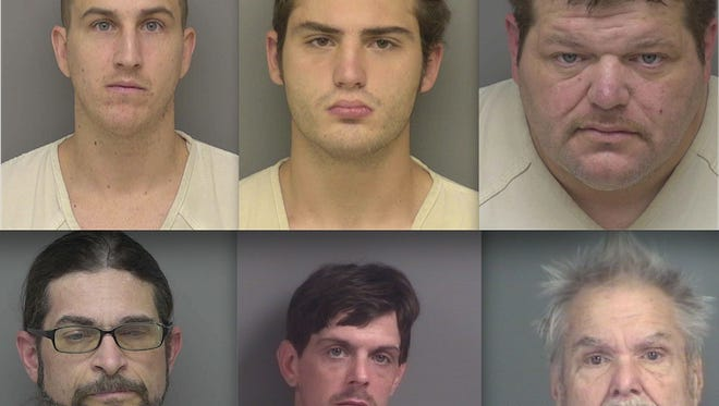 Top row, from left: Kenneth Coppola, Tyler Forton and Travis Bigelow. Bottom: Thomas Self, Dennis Norscia and Terry Phillips.