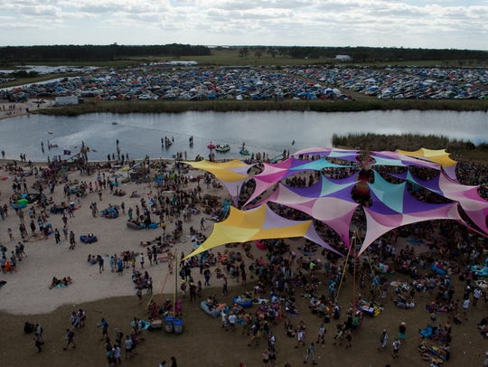 The Okeechobee Music and Arts Festival drew an estimated