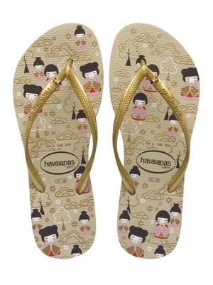 This product image courtesy of Havaianas shows their Slim Kokeshi sandals.