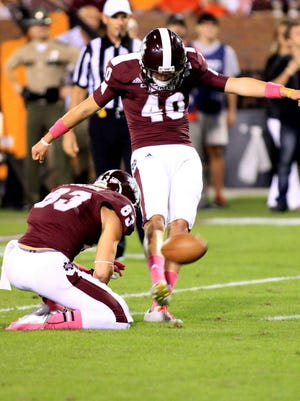 Mississippi State punter Devon Bell is a candidate for the Ray Guy award.