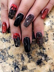 Nail art by Nichole Herrera of Artistic Nails in Corpus Christi.