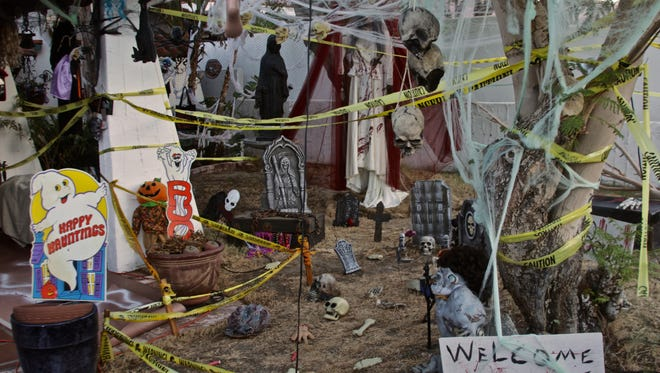 La Quinta resident Joyce Nichols has decorated her home for Halloween for 14 years and tries to make it more elaborate each time.