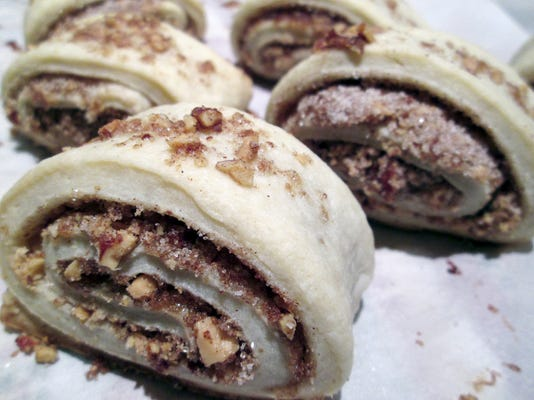 "In ""cut"" rugelach, the pastry is sliced before baking, and the shell hardens into a buttery, crumbly delight."